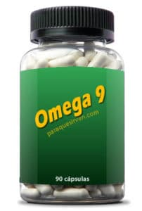 Frasco y pastillas de Omega 9