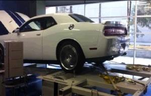 El dinamómetro midiendo la potencia de un auto
