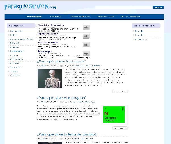 La página web, es una ventana de acceso a información variada.