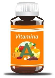Frasco de pastillas de vitamina a