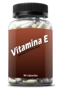 Frasco de vitamina e