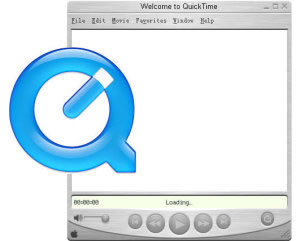 Pantalla y logo de Quicktime
