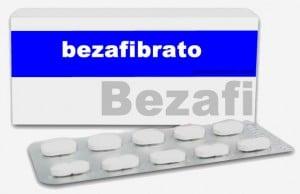Caja y pastillas de bezafibrato