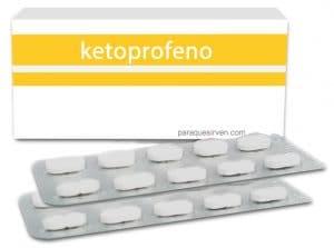 Caja y pastillas de ketoprofeno