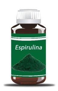 Frasco de espirulina