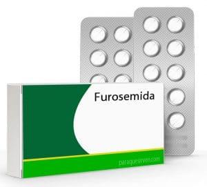 Caja y pastillas de furosemida