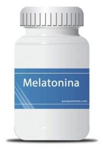 Frasco de melatonina