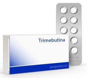 Caja y pastillas de trimebutina