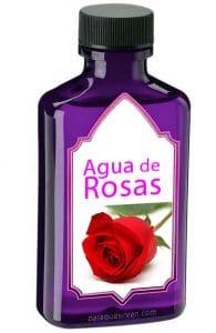 Frasco de agua de rosas