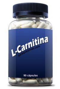 Bote con pastillas de l-carnitina