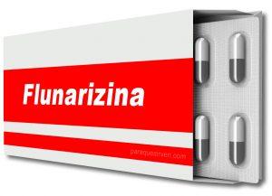 Caja y pastillas de flunarizina