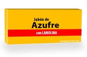 Jabón de azufre para el acné.