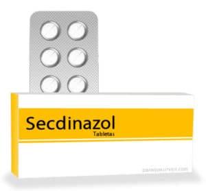 Caja y pastillas de secdinazol